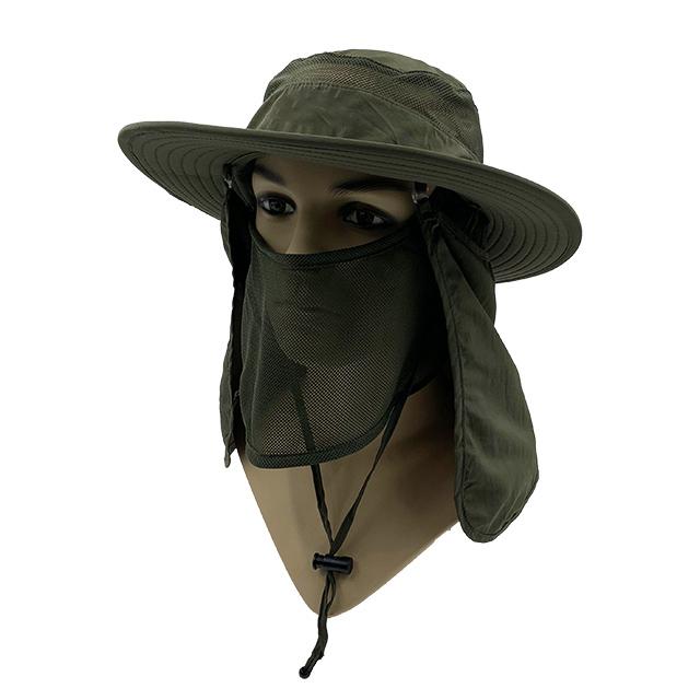 Army green Wide brim hat