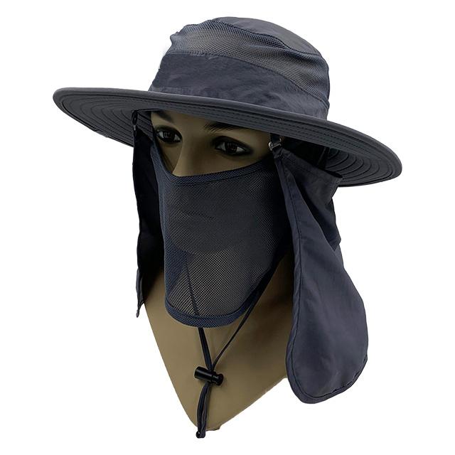 Dark Grey wide brim hat
