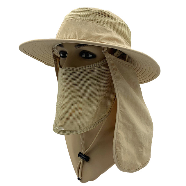 Khaki Wide brim hat